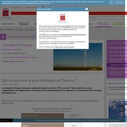 L'énergie en France - Qui consomme le plus d'énergie en France ?
