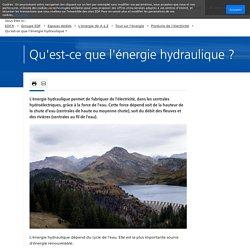 Qu'est-ce que l'énergie hydraulique ?