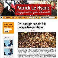 De l'énergie sociale à la perspective politique