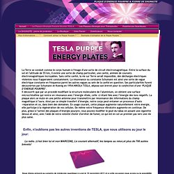 La Plaque d'énergie Pourpre Nicolas TESLA - Les Plaques d'énergie Pourpre
