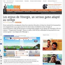 Les enjeux de l'énergie, un serious game adapté au collège