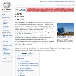 Énergie solaire en Australie