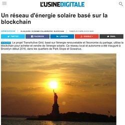 Un réseau d'énergie solaire basé sur la blockchain