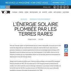 L'énergie solaire plombée par les terres rares