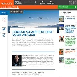 L'énergie solaire peut faire voler un avion