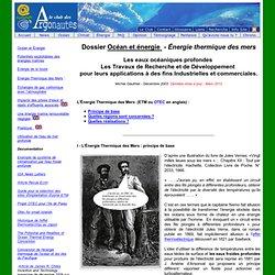Energie thermique des mers, ETM, OTEC
