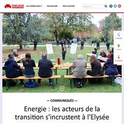 Energie : les acteurs de la transition s'incrustent à l'Elysée