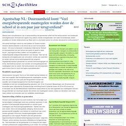 """Agentschap NL: Duurzaamheid loont """"Veel energiebesparende maatregelen worden door de school al in een paar jaar terugverdiend"""""""