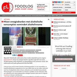 FOODLOG: Mixen energiedranken met alcoholische consumpties vermindert alcoholinname