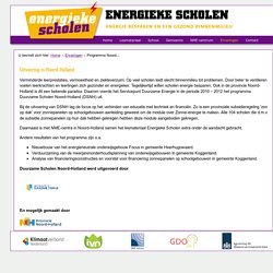Energieke Scholen - Programma Noord-Holland