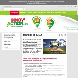 Energies et climat - Innovaction