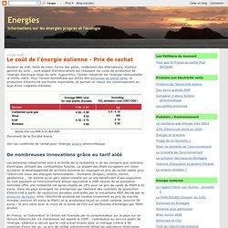 Le coût de l'énergie éolienne - Prix de rachat