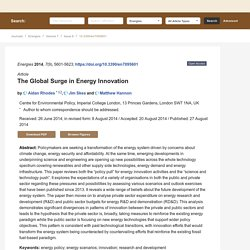 The Global Surge in Energy Innovation