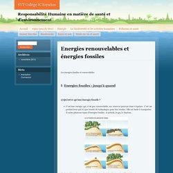 Energies renouvelables et énergies fossiles