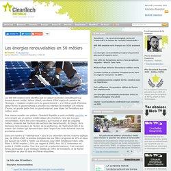 Les énergies renouvelables en 50 métiers