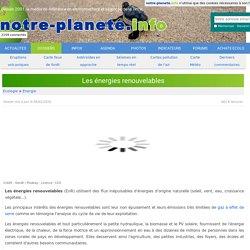 Les énergies renouvelables - notre-planete.info