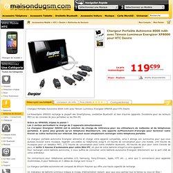 Energizer XP8000 - Chargeur Portable Autonome 8000 mAh avec Témoin Lumineux Energizer XP8000 pour HTC Desire