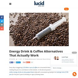 Energy Drink & Coffee Alternatives That Actually Work - Lucid Smart Pill
