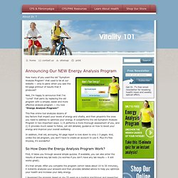 Energy Analysis Program