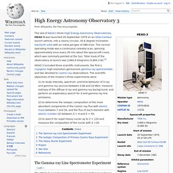High Energy Astronomy Observatory 3
