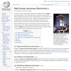 High Energy Astronomy Observatory 1