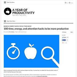 100 time, energy, and attention hacks to become more productive