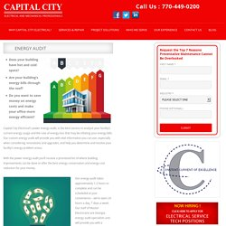 Energy Audit - Capital city services