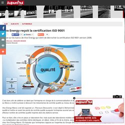 Vivo Energy reçoit la certification ISO 9001