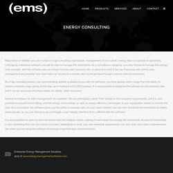 Software for Energy Consulting
