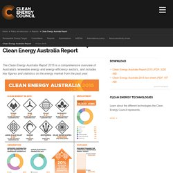 Clean Energy Council - Clean Energy Australia Report
