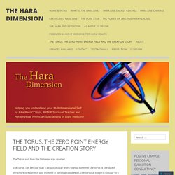The Torus, the Zero Point Energy Field and the Creation Story