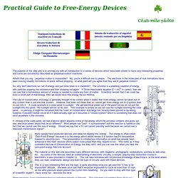 Free-Energy Devices, zero-point energy, and water as fuel