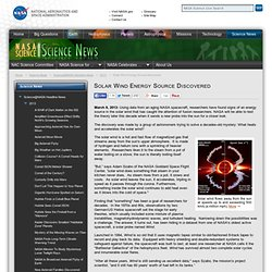 Solar Wind Energy Source Discovered