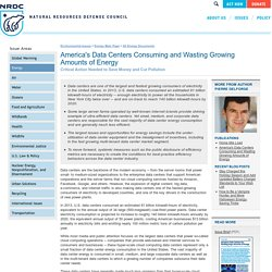 Energy Efficiency, Data Centers