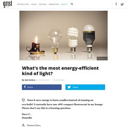 What's the most energy-efficient kind of light?