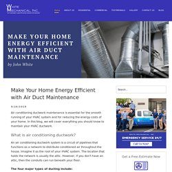 Make Your Home Energy Efficient with Air Duct Maintenance
