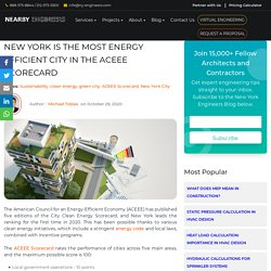 New York is the Most Energy Efficient City in the ACEEE Scorecard