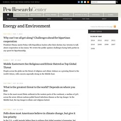 Latest on Energy and the Environment from the Pew Institute