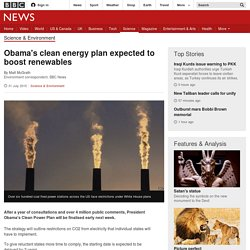 Obama's clean energy plan expected to boost renewables - BBC News