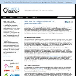 What does the Energy Bill mean for UK generation investment?
