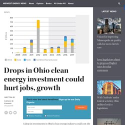 Drops in Ohio clean energy investment could hurt jobs, growth