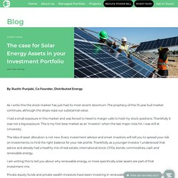 Solar Energy Assets In Your Investment Portfolio