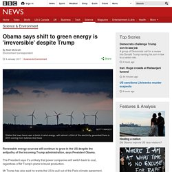 Obama says shift to green energy is 'irreversible' despite Trump [09/01/17]