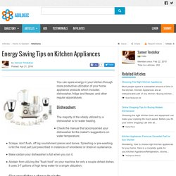 Energy Saving Tips on Kitchen Appliances