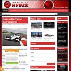London will host Formula E electric Grand Prix