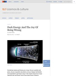 The Story Of Dark Energy, In A Nutshell : 13.7: Cosmos And Culture