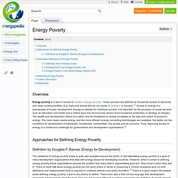 Energy Poverty - energypedia.info