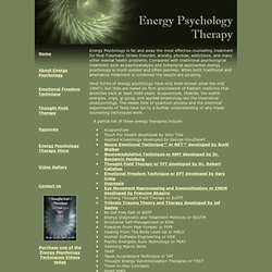 Energy Psychology Therapy