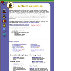 Energy Quest - Science Projects