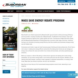 Mass Save Energy Rebate Program MA